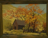 Mid Century Paint by Number Autumn Countryside II