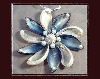"Sea Shell Keepsake Ornament Accent #139 (Size 5.25""), Beach/Nautical/Coastal Decor, Keepsake Ornament/Wall Accent"