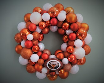 UT University of TEXAS LONGHORNS Ornament Wreath Football Wreath University of Texas