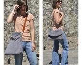 Leather tote bag crossbody bag grey leather bag shoulder bag leather handbag woman bag - LUCI model