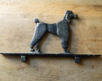 Vintage Metal Poodle Sign Hanger Bracket.