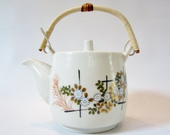 Vintage JAPANESE Teapot Ceramic with FILTER