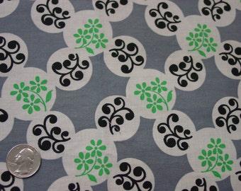 "Vintage Cotton Fabric c.1940's Circle Print, 35"" Wide, 2 1/2 Yards, Wonderful"