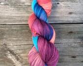 Hand dyed Yarn, Dipping Gradient, Sock Yarn, Knitting Yarn, MCN