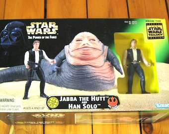 Jabba the Hutt and Han Solo Power of the Force NIB