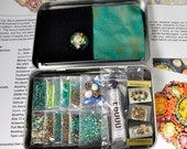 "One-of-a-Kind ""Sea Garden"" Free-Form Bead Embroidery Brooch Kit #3 Sea Tones"