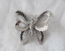 Vintage Monet Butterfly Brooch Pin Wire Threads Butterfly Jewelry