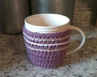 Crochet Mug Cozy Button Cozy Hot Beverage Drink Coffee Tea