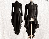 Victorian cardigan, black Steampunk robe, lace dress overcoat, Malacia, Somnia Romantica, size small see item details for measurements
