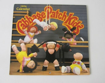 Vintage 80s Cabbage Patch Kids 1986 Calendar Officially Licensed 12 Months