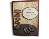 Rustic Fathers Day Card Hiker Fathers Day card