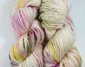 Colorway Of the Month, February  (pre-order),  Light Worsted, DK, Superwash Merino, 100 grams, Hand Dyed Yarn, double knitting
