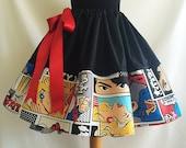 Pop art Full skirt, 1950s print, retro skirt, vintage skirt style, By Rooby lane