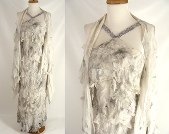 Blood Optional upcycled distressed Formal Gown ELEGANT SEXY MUMMY Halloween Costume Size 6 S