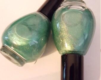 green eyed - an envious green semi-holo polish