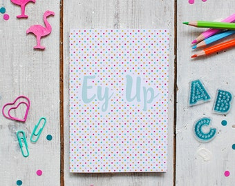 Ey Up Yorkshire Notebook   Colourful Note Book   Lined Notebook   Notepad   A6 Notebook   Pocket Note Book   Recyled