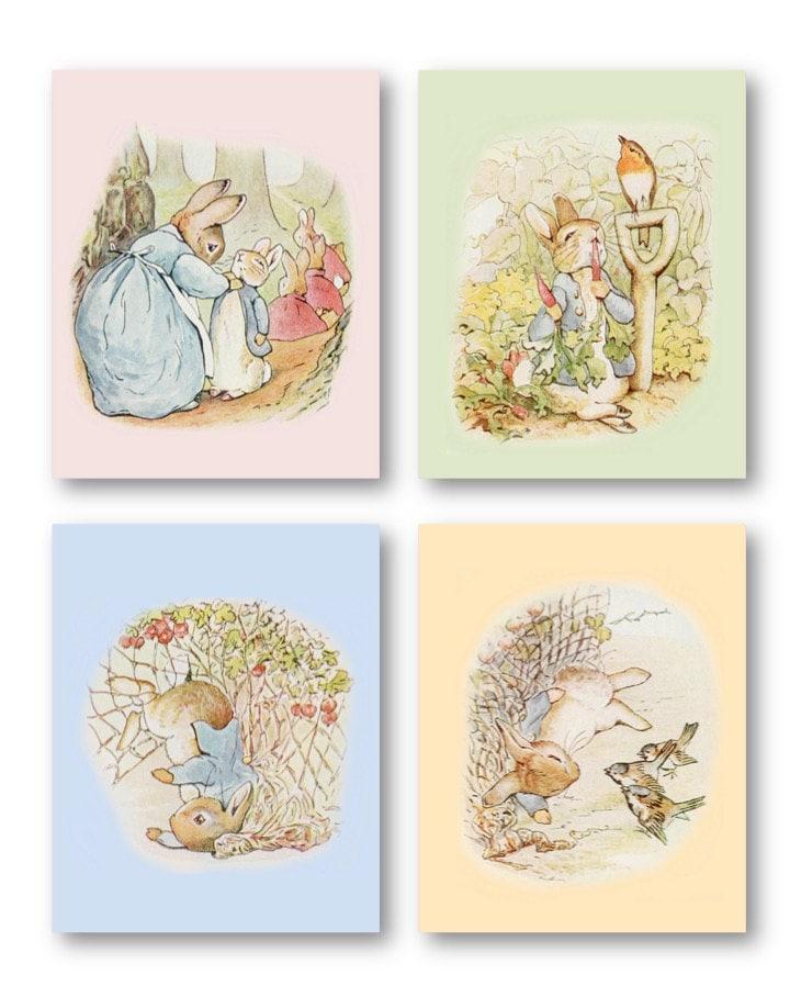 peter rabbit nursery decor baby nursery art prints peter