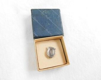 Vintage Sterling Silver Timken Bearings 10 Year Company Pin