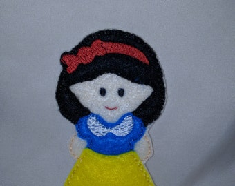 Snow White Princess Felt Finger Puppet