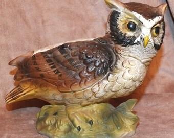 Inarco Owl Planter Vintage Owl Bird Planter