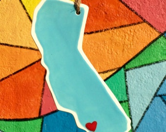 California State Ornament, Los Angeles can be personalized with colors and different cities!