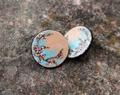 Hand-Painted Cherry Blossom Stud Earrings
