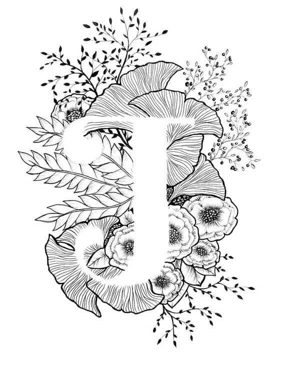 It is a picture of Adaptable Calligraphy Coloring Pages