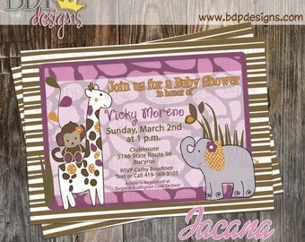 Jacana Baby Shower Invitation - Customized Digital Download OR Prints (Details Below)