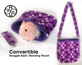 CHOOSE-A-SIZE Purple Hedgehogs Snuggle Sack Bonding Pouch