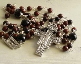Mens Rosary, Rosary necklace, Catholic Rosary, 5 Decade Rosary, Prayer Beads