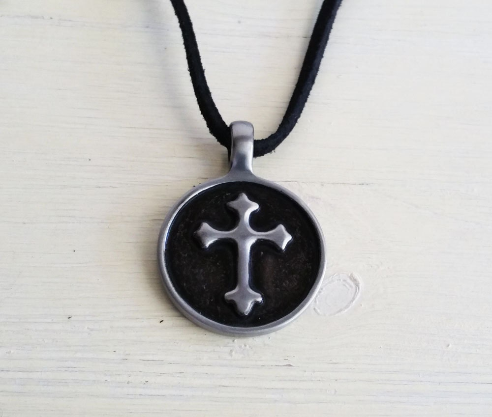 mens necklace mens religious necklace christian necklace