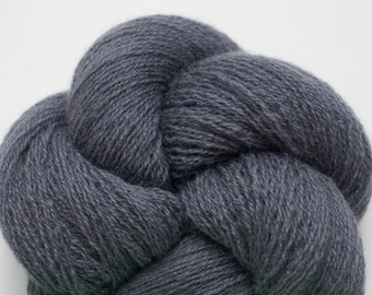 Lace Weight Recycled Cashmere Yarn, Payne's Gray Cashmere Lace Weight Recycled Yarn, 1633 Yards Available