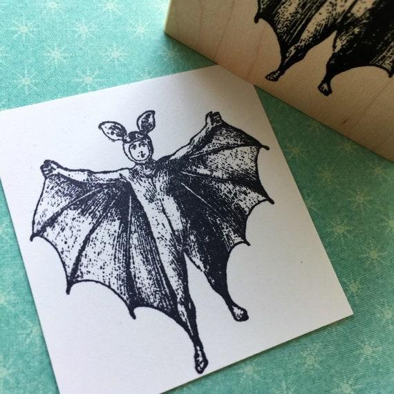 Bat Boy  Rubber Stamp 5737