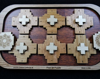 Bixel Bit Puzzle – insert the 2 bits into the frame