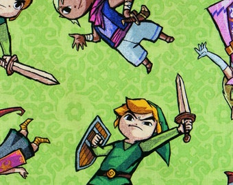 Legend of Zelda, Zelda Fabric, Zelda Characters, Over Sized, Nintendo Game,  Zelda, Link, Medi, Mila, Tetra, By the Yard