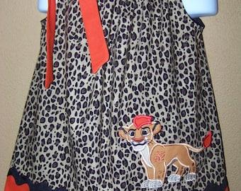 Lion Guard Pillowcase Dress, Disney Inspired, Girls Dress Lion King, Kion, Disney Junior Toddler Dress, Baby Dress, Size 6 mos to 14