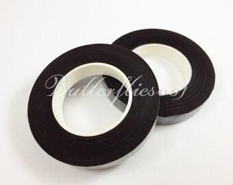 2 Rolls of Dark Brown floral tape 12mm width : 30 yards length