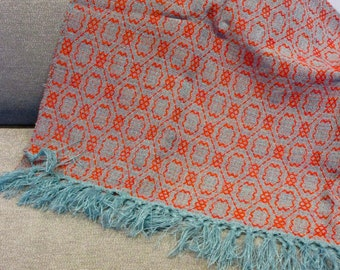 Aqua and Orange Blanket