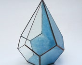 Light Blue Crystal / Large Geode Crystal Terrarium / Geode / Crystal Display