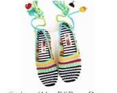 ADULT Happy SCRAP-SHOES - Espadrilles - One-Piece Basic Slipper Crochet Pattern - Istant Download
