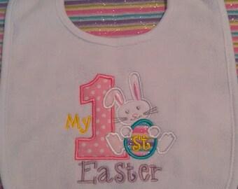 My 1st Easter Bib, holiday bib, baby bib, my first easter bib