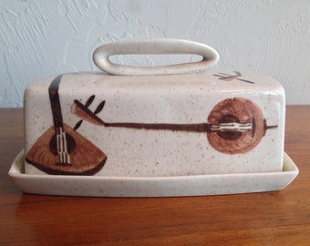 Red Wing Lute Song Butter Dish