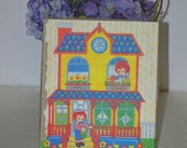NOS Raggedy Ann and Andy Vintage 1975 Hallmark Cards Stationery Box Bobbs Merrill Company Inc.