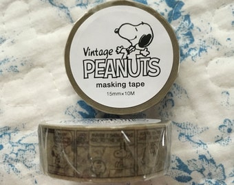 Snoopy masking tape Comic gray