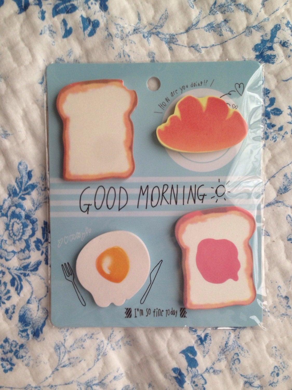 Good Morning John In Japanese : New japanese zakka sticky paper good morning