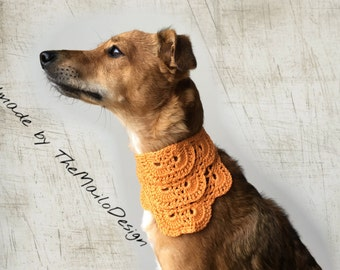 Orange Dog Bandana, Summer Dog Bandana, Rescue Dog Bandana