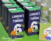 PRINTABLE JUICE BOX labels - Dinosaur Birthday Party - Memorable Moments Studio