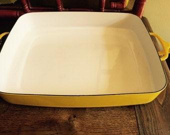 Dansk kobenstyle yellow enamel cookware large