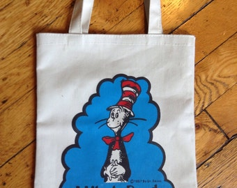 Vintage Dr Suess The Cat On the Hat tote bag