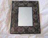 Shabby Gothic Chandelier Print Decoupaged Wall Mirror Home Decor